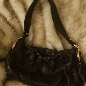 Black leather pocketbook